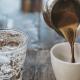 Água com gás e Café